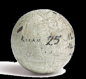 The Hand-Hammered Gutta Golf Ball