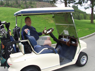 The Cadilac of Golf Carts at The Coeur d'Alene Golf Resort