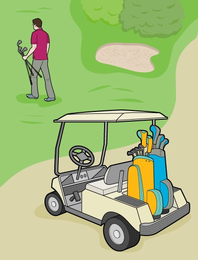 How to Get Exercise When Driving a Golf Cart