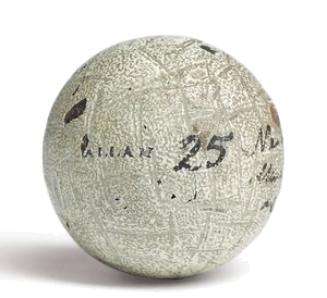 The Hand-Hammered Gutta Golf Ball