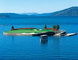 Coeur d'Alene Golf Course Floating Green