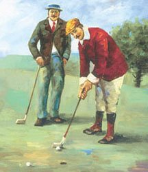 Early Golfers Putting
